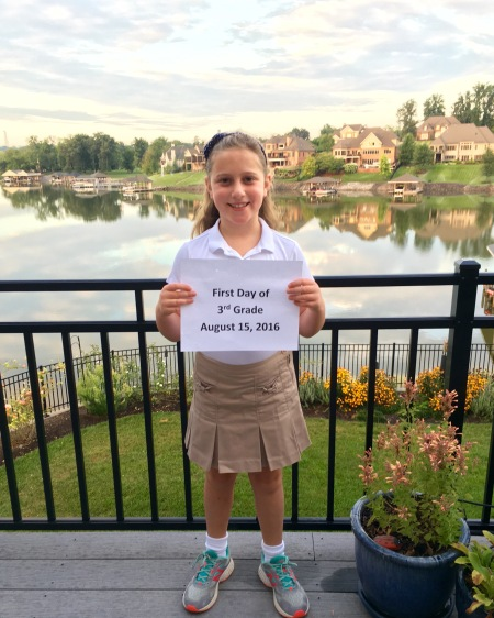 Rachael-first day of 3rd grade